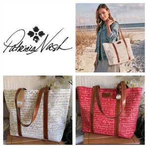 🆕🏷👜Last One Red Patricia Nash Beach Mesh 👜 Live Today Inspiration Tote 👜